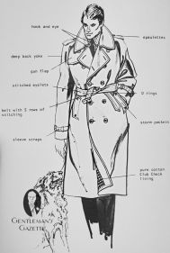 trench coat dessin